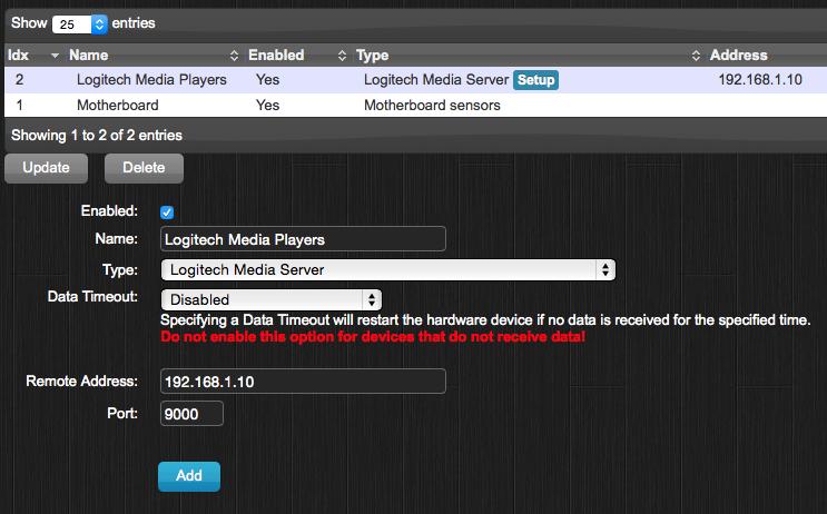 Logitech Media Server - Domoticz