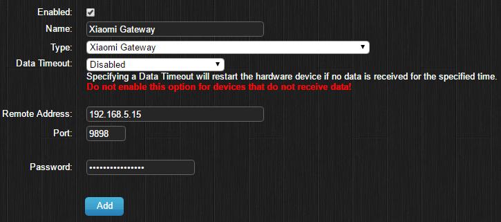 Xiaomi Gateway (Aqara) - Domoticz
